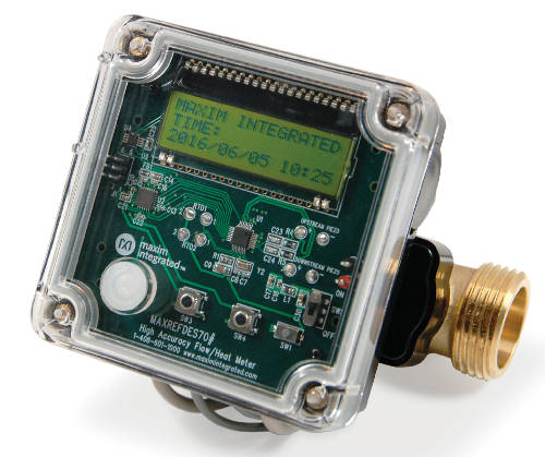 Monitor de flujo de agua y calor con 10 veces mayor precisión y rendimiento de bajo consumo