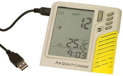 Monitor de monóxido de carbono y registrador de datos