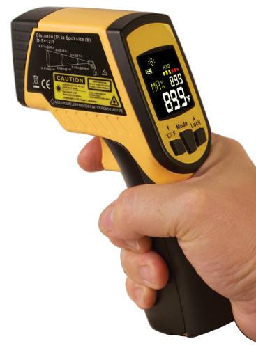 Termómetro infrarrojo con láser doble OS499