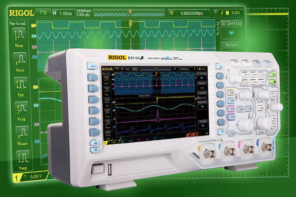 Fácil actualización del MSO de Rigol a nivel de osciloscopio