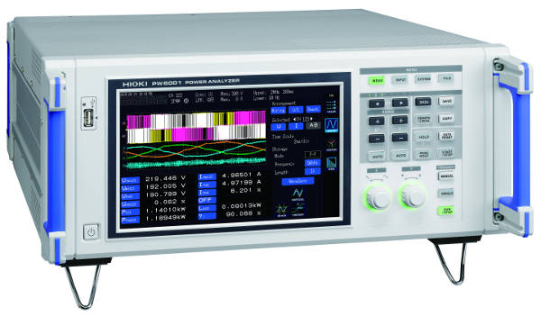 Analizador de potencia con precisión de 0,02% en potencia y ancho de banda DC a 2 MHz