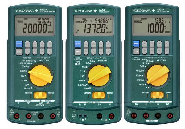 Calibradores de proceso portátiles con funciones especiales para diagnóstico de lazo y simulación de termopares y RTD