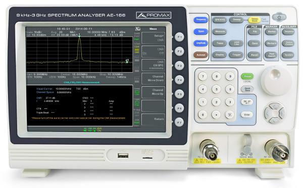 Analizador de Espectro Promax AE-166 / AE-167 de 3 GHz con generador de seguimiento