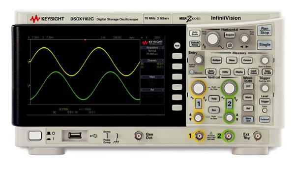 Osciloscopio serie X1000 de Keysight con aplicaciones de respuesta en frecuencia