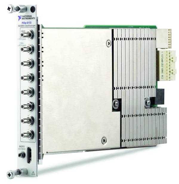 Osciloscopio de 8 canales PXIe-5172 con FPGA programable por el usuario
