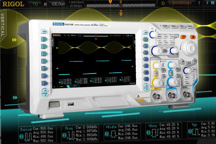 Nueva familia de osciloscopios de Rigol DS2000E de 2 canales y altas prestaciones