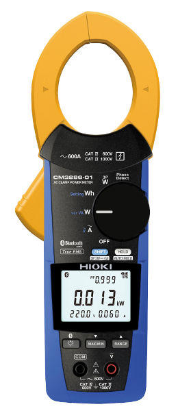 Medidor de potencia de pinza Hioki con bluetooth